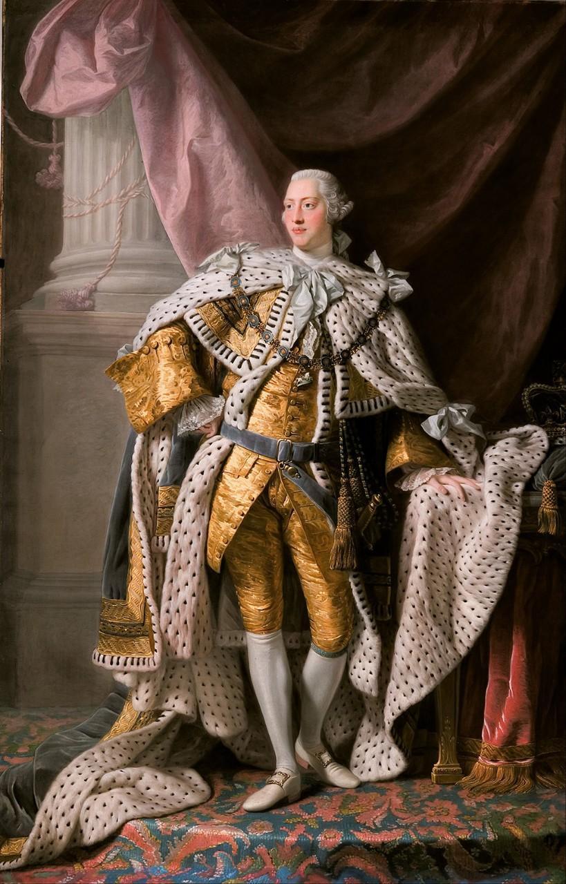 Коронационный портрет Георга Третьего. 1765 г. Алан Рамзи