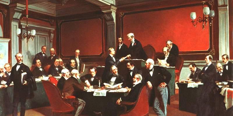 29 октября 1863 года 39 делегатов из 16 стран встретились в Женеве. Они составили конвенцию, гарантировавшую неприкосновенность тем, кто оказывает медицинскую помощь.