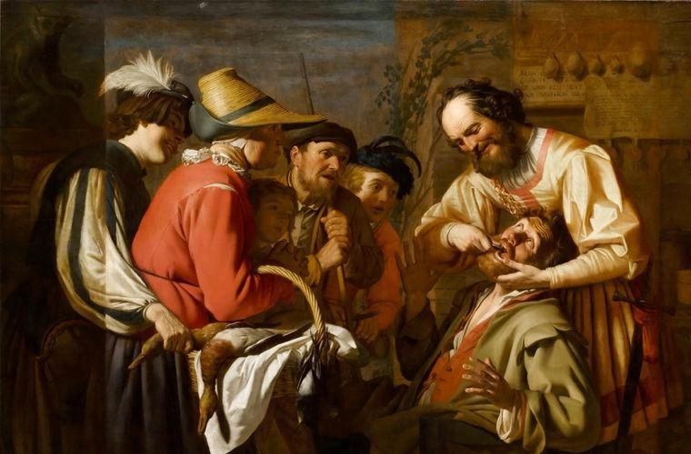 В Средние века дантистами были обычные парикмахеры.