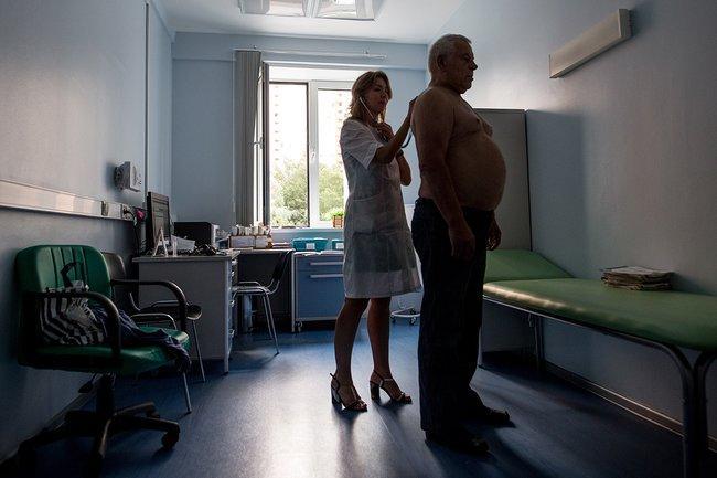 Прием у терапевта в городской поликлинике в Москве