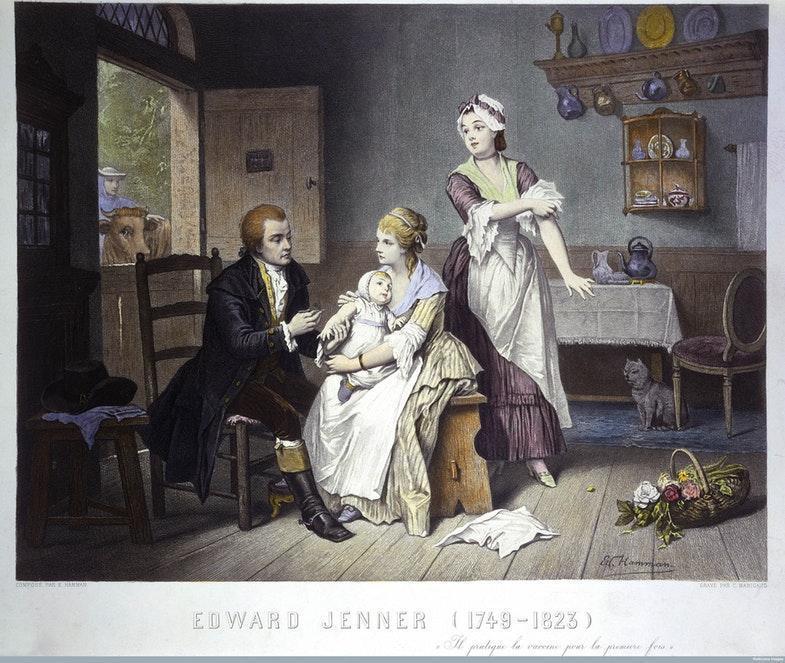 Эдвард Дженнер вакцинирует своего ребенка. Источник: Wellcome Library, London / Wellcome Images