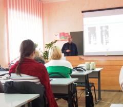 Главный конструктор Моськин В А проводит занятие в Барановичах
