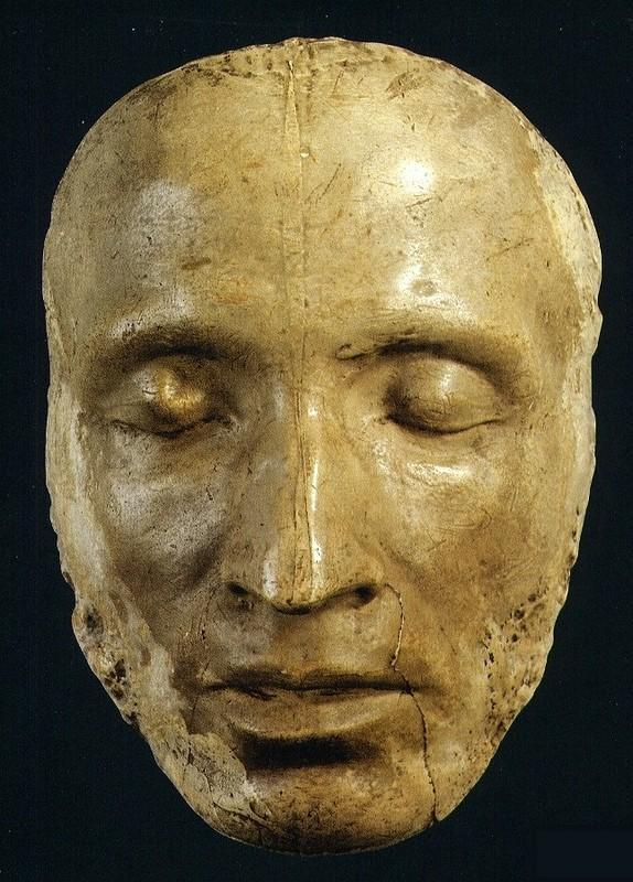 Посмертная маска Пушкина, сделанная под наблюдением скульптора С. И. Гальберга