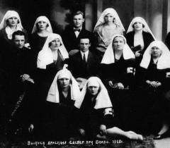Выпуск медицинских сестер при Гомельском окружном отделе здравоохранения (1928 г.).