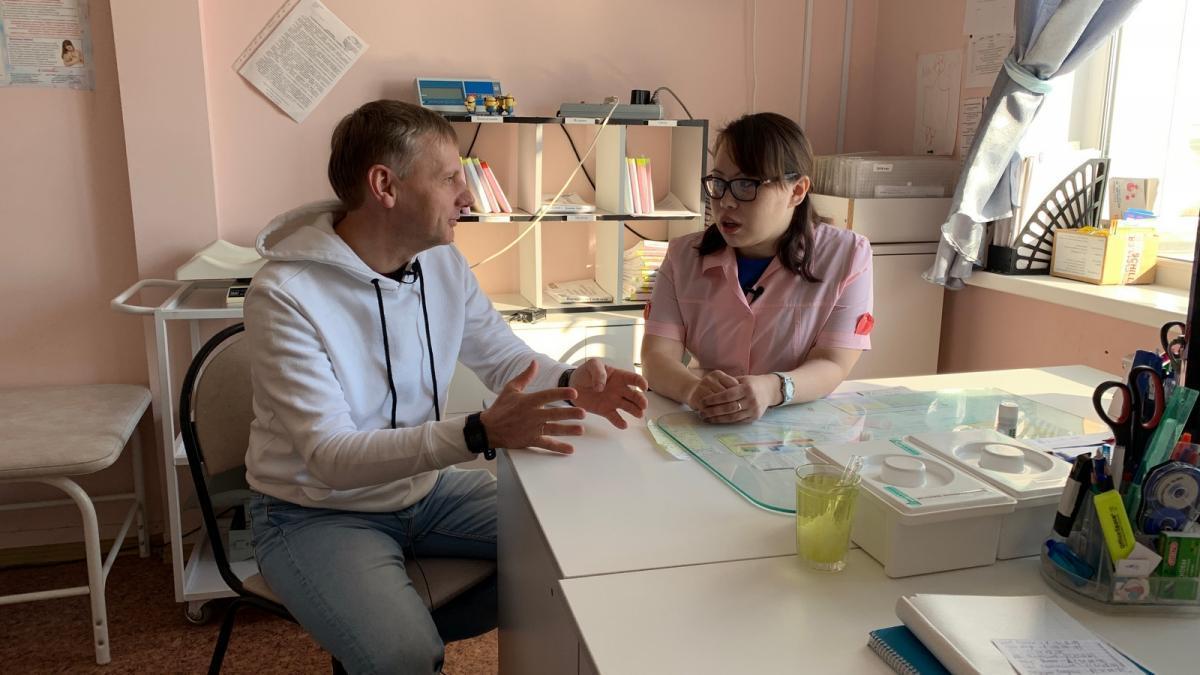 Беседа с фельдшером, заведующей филиалом амбулатория поселка Нельмин-Нос, Каневой Н.С.