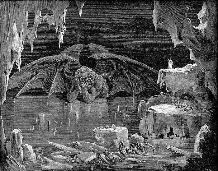 Гравюра с изображением Кокитоса в представлении Данте
