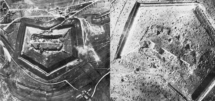 Форт Дюомон, с разницей в 1 год