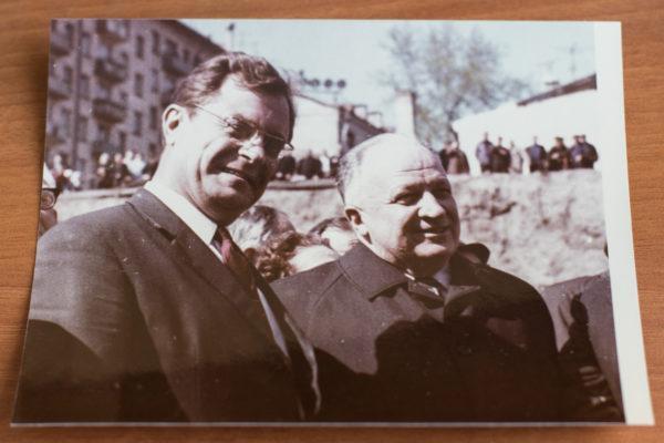 Директор НИИ Склифософского Борис Комаров и министр здравоохранения СССР Борис Петровский